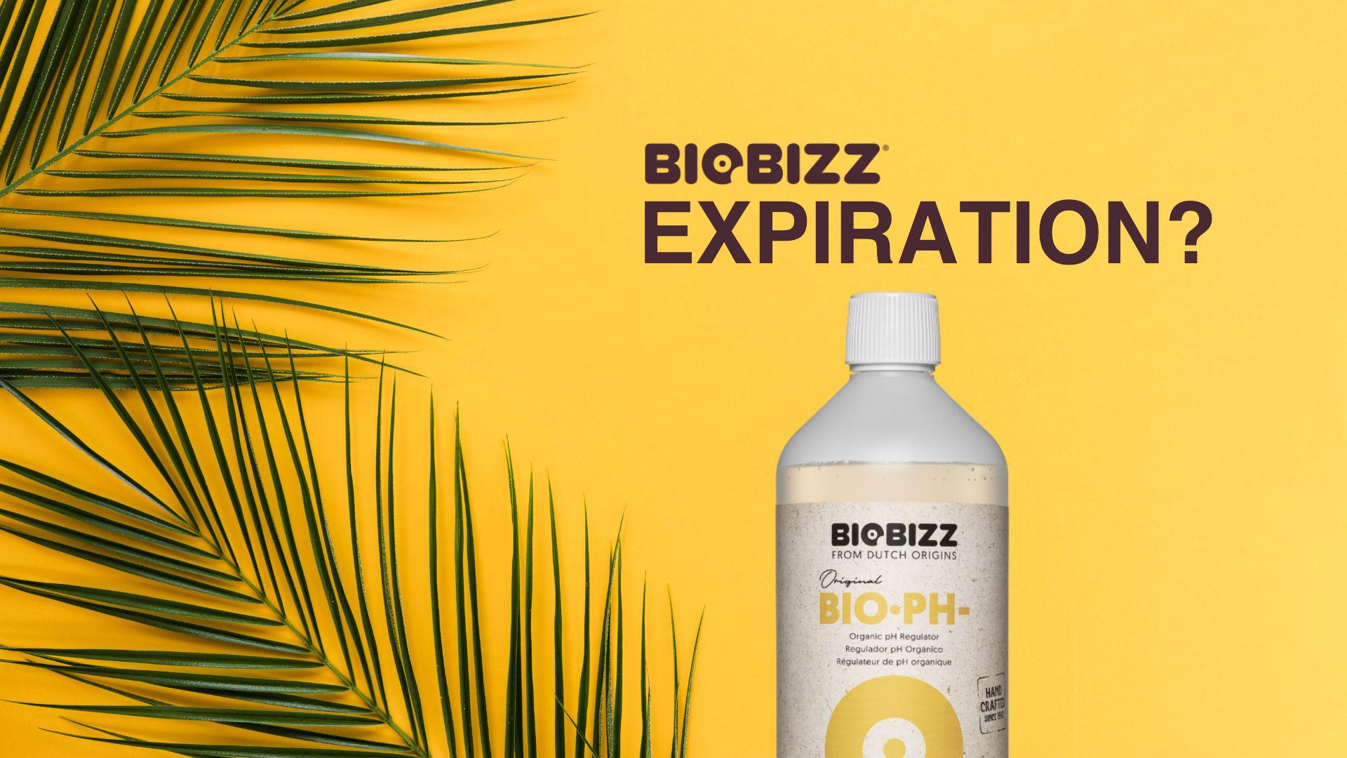 Biobizz Instructions - Production and Expiration Dates