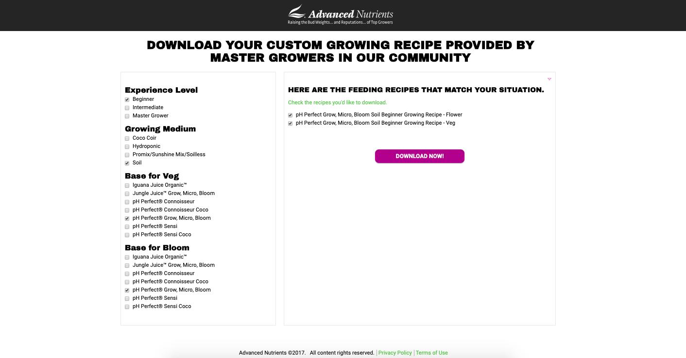AN Custom Grow Chart Example Recipe