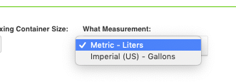Nutrients Calculator Measurements